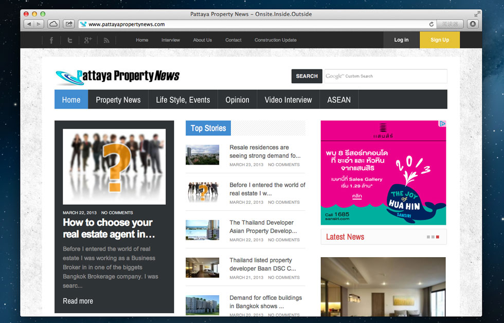 Pattaya Property News .com - with Responsive Design